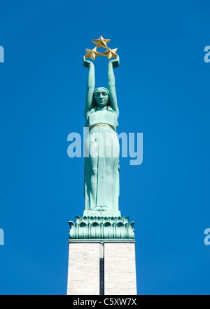 Freedom Monument, Riga, Latvia - Stock Photo