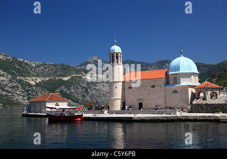 Our Lady of the Rocks island, Kotor Bay, Perast, Montenegro - Stock Photo