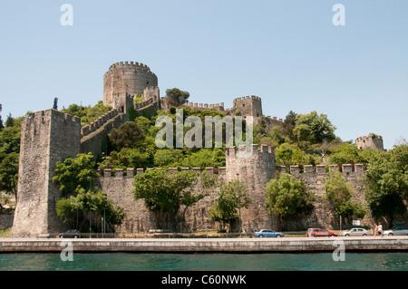 Rumelihisarı Rumelian Rumeli Castle is a fortress Istanbul Turkey European side of the Bosporus sultan Ottoman Sultan - Stock Photo