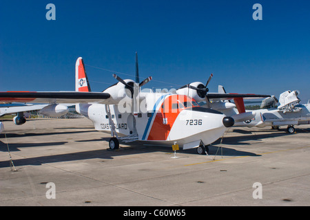 1947 HU-16 Albatross Amphibian rescue aircraft at the Naval Air Museum in Pensacola, Florida - home of the Blue - Stock Photo