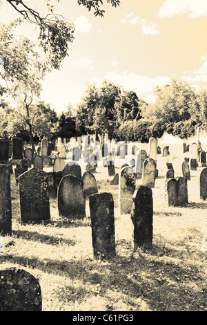 Jewish cemetery in Straznice, Czech Republic - Stock Photo
