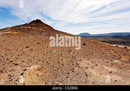 The landscape at Namafjall, Iceland - Stock Photo