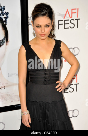 Mila Kunis at arrivals for AFI Fest 2010 Closing Night Gala Screening of BLACK SWAN, Grauman's Chinese Theatre, - Stock Photo