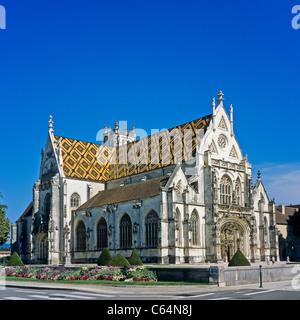 'Saint-Nicolas-de-Tolentin', 'Eglise de Brou' church 16th century, 'Bourg-en-Bresse', Ain, Rhône-Alpes, France - Stock Photo