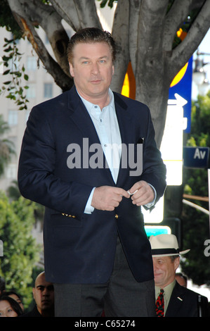 Alec Baldwin at the induction ceremony for Star on the Hollywood Walk of Fame Ceremony for Alec Baldwin, Hollywood - Stock Photo