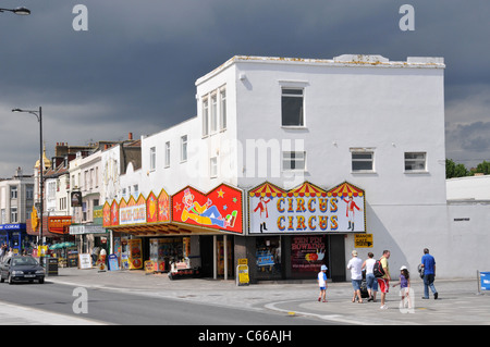 Amusements sea front Southend on sea seaside resort Essex holiday day trip - Stock Photo