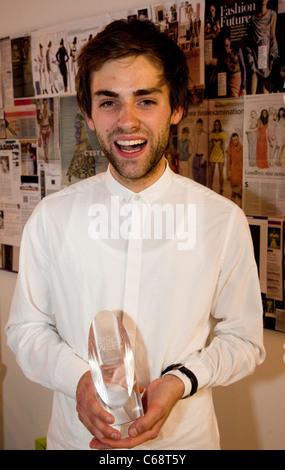 Graduate Fashion Week 2011, Gala Show, Rory Langdon, winner of the George Gold Award, Portrait - Stock Photo