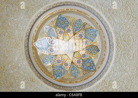 Prayer hall, Sheikh Zayed Grand Mosque, the third biggest mosque in the world, Al Maqtaa, Abu Dhabi, United Arab - Stock Photo