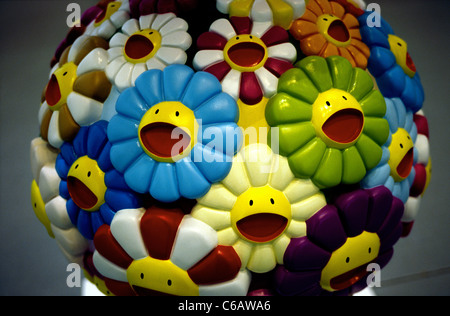 Takashi Murakami's 'Kiki' (2000) as part of the exhibition 'Falckenberg and Olbricht, Two Collectors' in Hamburg. - Stock Photo