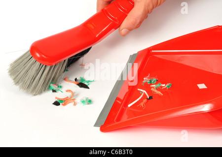 Brush and Dustpan - Stock Photo