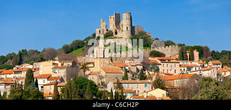 Europe, France, Var (83), Village of Grimaud - Stock Photo