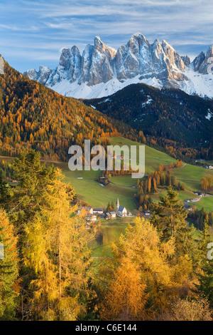 Mountains, Geisler Gruppe/ Geislerspitzen, Dolomites, Trentino-Alto Adige, Italy, Europe - Stock Photo