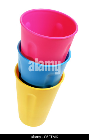 Stack of Plastic Cups - Stock Photo