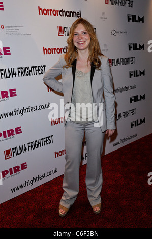 Honeysuckle Weeks attends the European Premiere of The Wicker Tree at the Film 4 Frightfest, The Empire Leicester - Stock Photo