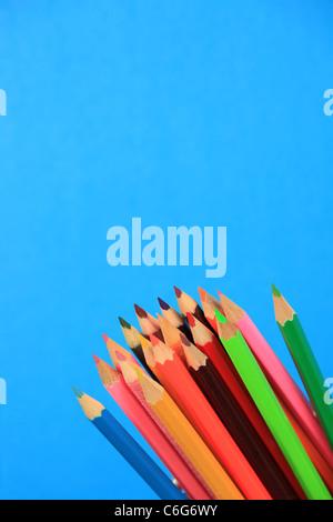 Multi-coloured pencils - Stock Photo