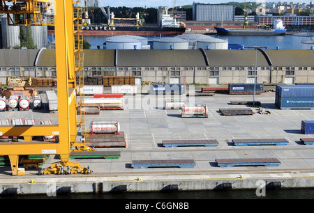 Port of Gdynia in Poland - Stock Photo