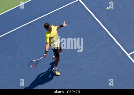 Juan Martin Del Potro (ARG) competing at the 2011 US Open Tennis. - Stock Photo