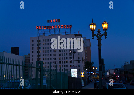 The Hollywood Knickerbocker Hotel at twilight - Stock Photo