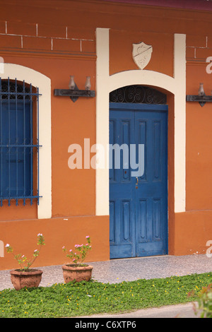 Rural house entrance in Panama. - Stock Photo