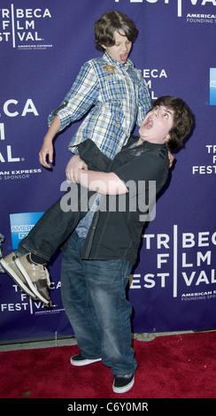 Bobby Coleman And Josh Flitter 2010 Tribeca Film Festival Premiere of Snowmen - Arrivals New York, USA - 23.04.10 - Stock Photo