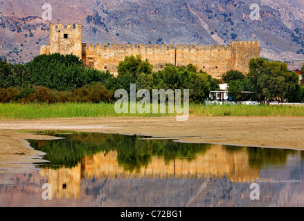 The Frangocastelo , in the East of the remote and 'wild' region of Sfakia, to the south of Chania Prefecture, Crete, - Stock Photo