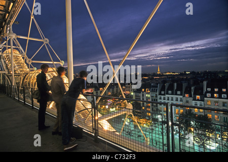 Centre Georges Pompidou, Pompidou Centre in the Beaubourg area, museum of modern art, 4e Arrondissement, Paris, - Stock Photo