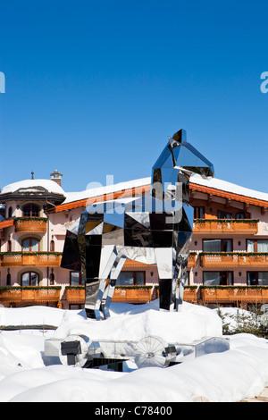 Cheval Blanc exclusive hotel, Courchevel, Savoie, Rhone-Alpes, France. - Stock Photo