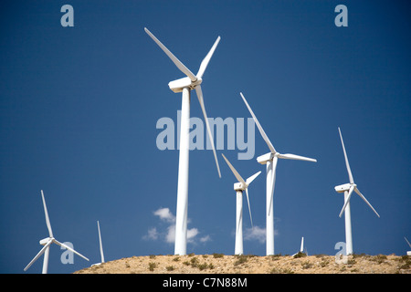 Wind Turbines in Palm Springs - CA - Stock Photo