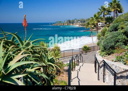 Heisler Park in Laguna Beach - CA - Stock Photo