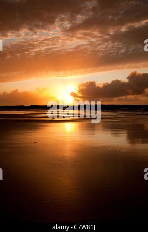 Sunset At Ballybunion, Co Kerry - Stock Photo