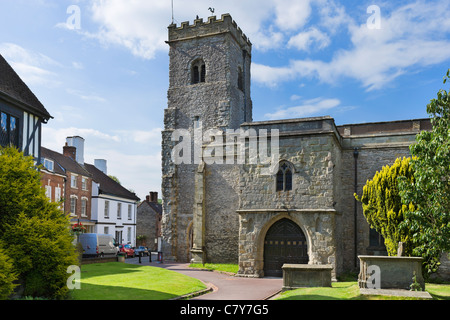 Holy Trinity Church in the village of Much Wenlock, Shropshire, England, UK - Stock Photo