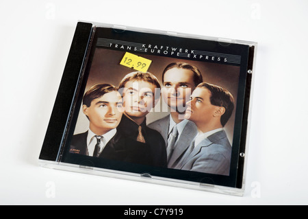 Kraftwerk, Trans Europe Express compact disc priced £12.99 - Stock Photo