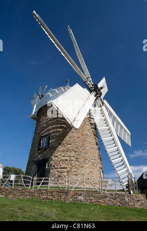 Heage Windmill, Heage, Derbyshire, the only working stone 6 sail windmill in the UK - Stock Photo