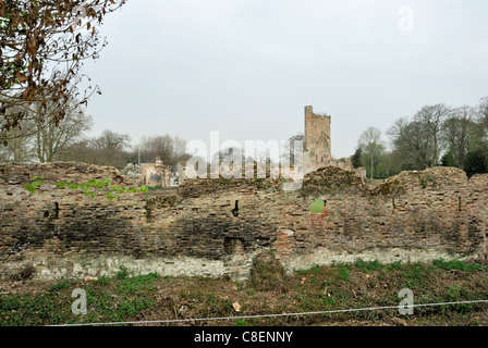 Caister Castle is a 15th-century moated castle situated in the parish of West Caister, Norfolk. - Stock Photo