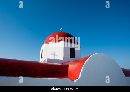 Panagia Tourliani Monastery, Ano Mera, Mykonos, Cyclades, Greek Islands, Greece - Stock Photo