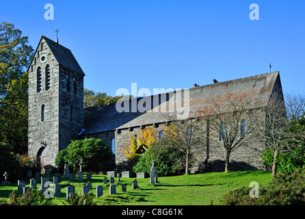 Church of the Sacred Heart. Coniston, Lake District National Park, Cumbria, England, United Kingdom, Europe. - Stock Photo