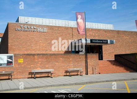 Middleton Hall, University of Hull, Hull, Yorkshire, England - Stock Photo