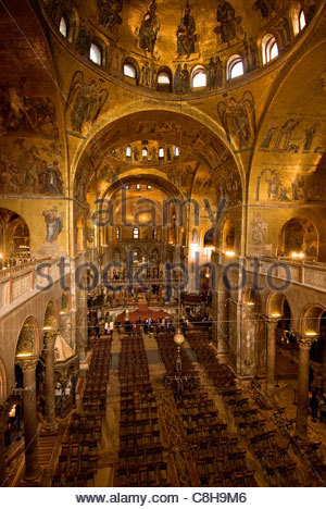 Inside San Marcos Basilica. - Stock Photo