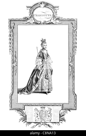 Charlotte of Mecklenburg-Strelitz Queen consort of the United Kingdom King George III electress Hanover Holy Roman - Stock Photo