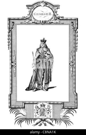 George II 1683 1760 King Great Britain Duke Brunswick Lüneburg Archtreasurer Prince elector Holy Roman Empire monarchy - Stock Photo