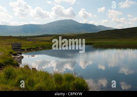 Ben Klibreck from the river Mudale, near Altnaharra, Sutherland, Scotland, UK - Stock Photo