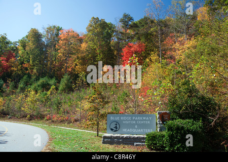 Blue Ridge Parkway Visitor Center and Headquarters - near Asheville, North Carolina USA - Stock Photo