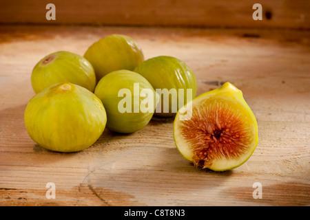 Figs on Wood - Stock Photo