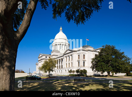 The Arkansas State Capitol Building, Little Rock, Arkansas, USA - Stock Photo