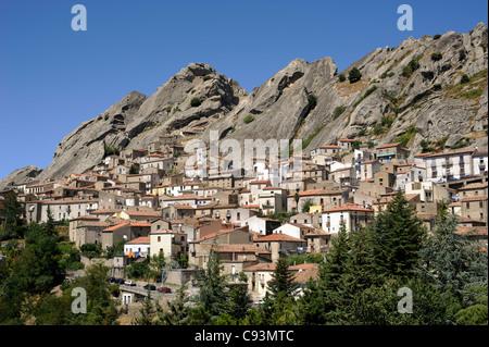 italy, basilicata, dolomiti lucane regional park, pietrapertosa - Stock Photo