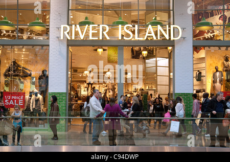 River Island Store, Westfield shopping centre, Stratford London UK - Stock Photo