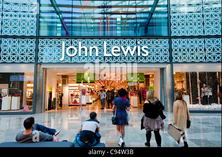 Westfield Stratford City shopping mall, E15, London, United Kingdom - Stock Photo