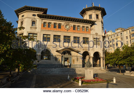 The historic main post office in Santander, Northern Spain. - Stock Photo