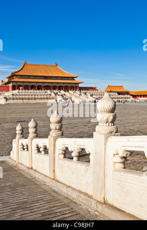Hall of Supreme Harmony, Outer Court, Forbidden City, Beijing, Peoples Republic of China, Asia - Stock Photo
