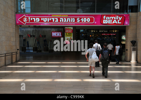 Israel, Ben Gurion International Airport, The departure lounge The duty free shops - Stock Photo